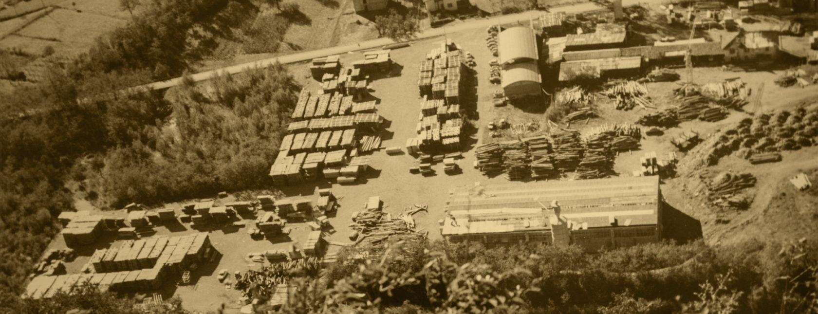 Foto aerea storica Bordiga Legnami
