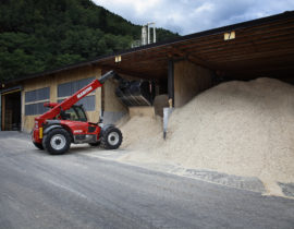Sawdust deposits for producing for pellets at Bordiga Srl